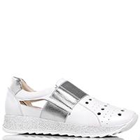 Белые кроссовки Mot-Cle с блестками вдоль подошвы, фото
