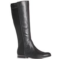 Черные сапоги Calvin Klein из комбинации кожи и текстиля, фото