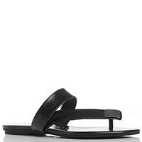 Черные сланцы Calvin Klein с металлическим декором, фото