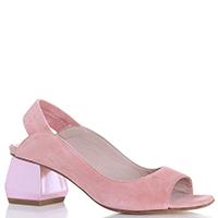 Розовые босоножки Giancarlo Paoli на устойчивом каблуке, фото
