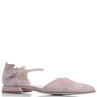 Розовые туфли Gianni Famoso из замши на низком каблуке, фото