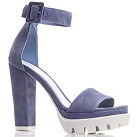 Синие босоножки Gianni Famoso на устойчивом каблуке, фото