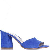 Замшевые мюли Nila&Nila синего цвета, фото