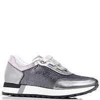 Серебристые кроссовки Mot-Cle с пайетками, фото