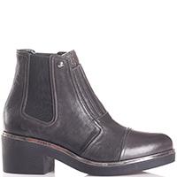 Серые ботинки-челси Mot-Cle на устойчивом каблуке, фото