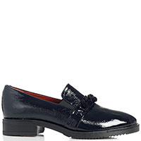 Лаковые туфли-лоферы Mot-Cle темно-синего цвета, фото