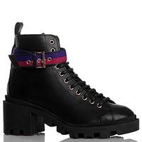 Черные ботинки Stokton на устойчивом каблуке, фото