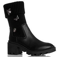 Черные ботинки Stokton с декором-брошками, фото