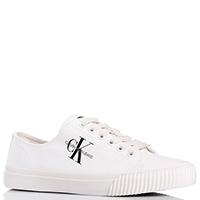Белые кеды Calvin Klein с принтом-лого, фото