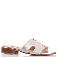 Золотистые шлепанцы Nila&Nila на маленьком каблуке, фото