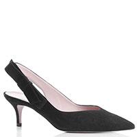 Черные туфли-слингбеки Bianca Di с декором-бантом, фото