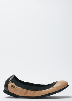 Балетки из кожи Givenchy бежевого цвета, фото