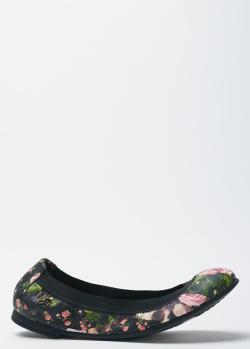 Туфли-балетки Givenchy с цветочным принтом, фото