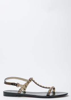 Черные сандалии Givenchy с декором-заклепками, фото