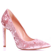 Бархатные лодочки Marco Barbabella розового цвета, фото