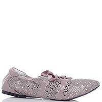 Пудровые спортивные туфли Cocorose London Stratford с перфорацией, фото