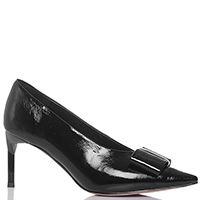 Лаковые туфли Gianni Renzi с декором-бантом, фото