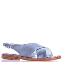 Голубые сандалии Eddy Daniele с текстильным верхом, фото