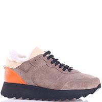 Замшевые кроссовки Lonvie на толстой подошве, фото