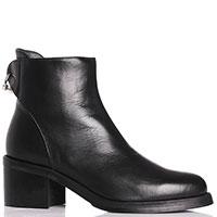 Черные ботинки MA&LO на устойчивом каблуке, фото