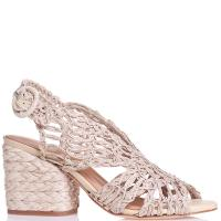 Розовые босоножки Paloma Barcelo из плетеной кожи, фото