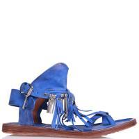 Синие босоножки A.S.98 с декором, фото