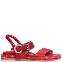 Красные сандалии A.S.98 с тиснением под рептилию, фото