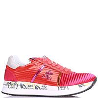 Красные кроссовки Premiata из кожи и текстиля, фото