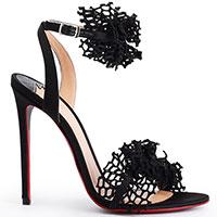 Черные босоножки Merlyn Shoes с декором-сеточкой, фото