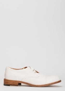 Женские туфли-дерби Ernesto Dolani из белой кожи, фото
