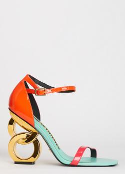 Лаковые босоножки Kat Maconie Suzu с необычным каблуком, фото