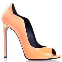 Лаковые туфли Gianmarco Lorenzi оранжевого цвета, фото