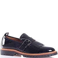 Туфли-лоферы Voile Blanche из лаковой кожи черного цвета, фото
