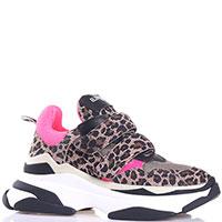 Кроссовки Elena Iachi с тигровым принтом, фото