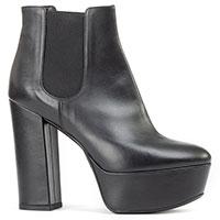 Черные ботинки Gianni Renzi на высоком каблуке, фото