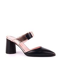 Черные мюли Ilasio Renzoni с острыми носками, фото