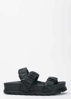 Сандалии Vic Matie из кожи черного цвета, фото