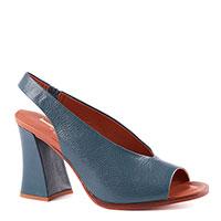Синие босоножки Jeannot на среднем каблуке, фото