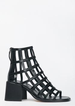 Черные высокие босоножки Vic Matie с ремешками, фото
