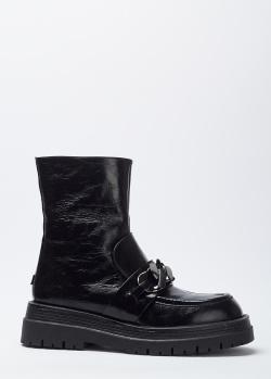 Черные ботинки 7AM на толстой подошве, фото