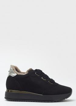 Замшевые кроссовки Kelton черного цвета, фото
