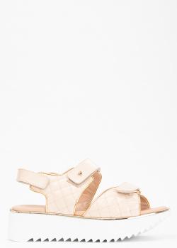 Стеганые сандалии Kelton на липучках, фото