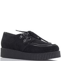 Черные замшевые туфли Nila&Nila на платформе, фото
