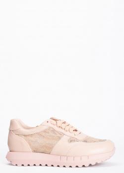 Бежевые кроссовки Stokton с кружевными вставками, фото