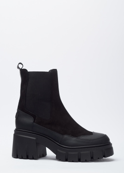 Замшевые ботинки Loriblu на среднем каблуке, фото
