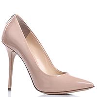 Бежевые лаковые туфли Dyva на высоком каблуке, фото