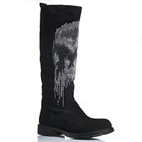 Зимние замшевые сапоги черного цвета Fru.It Now с прямым голенищем, фото