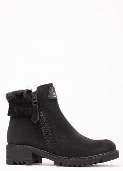 Черные ботинки Lab Milano на молнии, фото