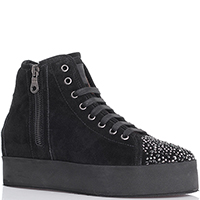 Ботинки Eddy Daniele черного цвета с декором-стразами, фото