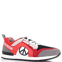 Женские кроссовки Love Moschino красного цвета, фото